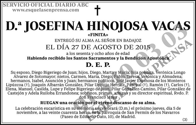 Josefina Hinojosa Vacas